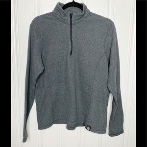 REI Co-op Quarter-Zip Fleece Pullover Gray Sz XL